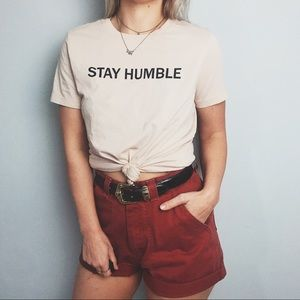 Stay Humble Baby Pink Tee
